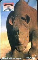 VIÊT- NAM  -  Cards  -  VIETTEL  -  FAKE  -  Black Rhinoceros  -  20000 D - Vietnam