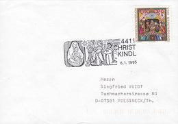 Austria CHRISTKINDL 6.1.1995 Cover Brief POESSNECK Pößneck Germany - 1945-.... 2. Republik