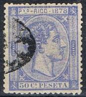 Sello 50 Cts Alfonso XII, Colonia Española PUERTO RICO 1878, Num 21 º - Puerto Rico