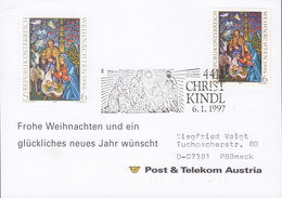 Austria Post & Telecom CHRISTKINDL 6.1.1997 Card Karte POESSNECK Pößneck Germany - 1945-.... 2. Republik