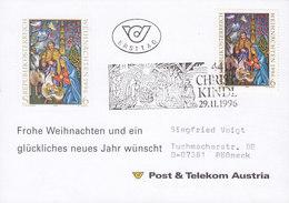 Austria Post & Telecom CHRISTKINDL 29.11.1996 Card Karte POESSNECK Pößneck Germany - 1945-.... 2. Republik