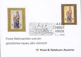Austria Post & Telecom CHRISTKINDL 6.1.1998 Card Karte - 1945-.... 2. Republik