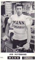 Carte Cyclisme Coureur Cycliste Mann Joseph HUYSMANS Lire Description - Cyclisme