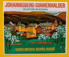 14289 - Johannisberg-Sonnenhalder Caves Imesch Sierre - Etiketten