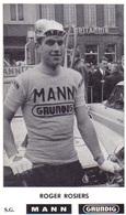 Carte Cyclisme Coureur Cycliste Mann Roger ROSIERS Lire Description - Cyclisme