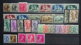 BELGIE 1935-36    Nr. 401-403 / 404 - 406 / 407 - 409 / 411 - 418 / 418A-426 + 427 + 428 X 3   Scharnier *     CW 33,00 - Belgium