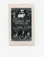 Erinnophilie Vignette Villeneuve Sur Lot Foire Exposition 1935 - Cinderellas