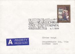 Austria A Priority PRIORITAIRE Label CHRISTKINDL 6.1.1999 Cover Brief GERA Germany - 1945-.... 2. Republik