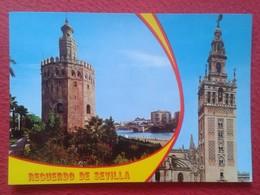 POSTAL POST CARD Nº 680 SEVILLA SEVILLE SIVIGLIA, BEASCOA BV DIVERSAS VISTAS, TORRE DEL ORO LA GIRALDA SPAIN ESPAGNE.... - Sevilla