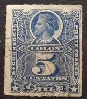 COLON-COLUMBUS-5 C-ERROR -CHILE - 1878 - Chile