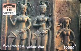 VIÊT- NAM  -  Cards  -  VIETTEL  -  FAKE  - Apsaras At Angekor War  -  10000 D - Vietnam