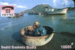 VIÊT- NAM  -  Cards  -  VIETTEL  -  FAKE  - Seald Baskets Boats -  10000 D - Vietnam