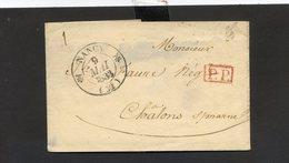 240520//// LETTRE PRECURSEUR...........NANCY    CACHET PP ROUGE DANS RECTANGLE - 1801-1848: Precursori XIX