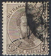 Sello 50 Cts Amadeo, Habilitado, Colonia Española PUERTO RICO 1873, Num 2 º - Puerto Rico