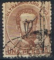Sello 1 Pta Amadeo, Habilitado, Colonia Española PUERTO RICO 1873, Num 3 º - Puerto Rico