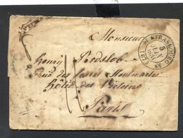240520//// LETTRE PRECURSEUR...........STRASBOURG CACHET BLEU AU VERSO - 1801-1848: Precursori XIX