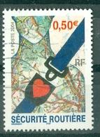 FRANCE - N° 3659 Oblitéré - Sécurité Routière. Composition Avec Ceinture De Sécurité. - Frankreich