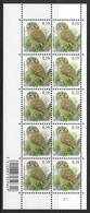 België/Belgique 2009 - Velletje/Feuillet F3956xx - Vogels - Planche 2 - Oiseaux. - Panes