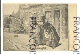 Le Vieux-Liège à L'Exposition De 1905. Une Rixe. Signée Comhaire - Luik