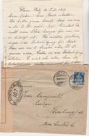 Enveloppe + Courrier Davos Platz / Suisse / Censure /  Pour Jean Lamprecht Horloger à Strasbourg - 1914-18