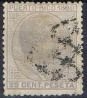Sello 15 Cts Alfonso XII, Colonia Española PUERTO RICO 1880, Marquillado, Num 38 º - Puerto Rico