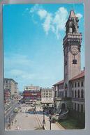 US.- WORCESTER, MASSACHUSETTS. CITY HALL FACING MAIN STREET. 1957. - Worcester