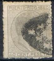 Sello 40 Cts Alfonso XII, Colonia Española PUERTO RICO 1880, Num 39 º - Puerto Rico