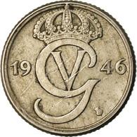 Monnaie, Suède, Gustaf V, 25 Öre, 1946, TTB, Nickel-Bronze, KM:798 - Sweden