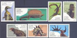 1989. Guinea - Bissau, Prehistoric Animals, 7v, Mint/** - Guinea-Bissau