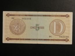 Billets - Cuba - Valeur Faciale : 5 Pesos - Certificat De Devise - Bon état - Cuba
