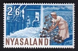 Nyasaland 1964 / Local Motives, Plants, Cotton Industry / MNH / Michel 133 - Pflanzen Und Botanik
