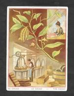 Chromo Lith VIEILLEMARD & SES FILS ''Le Cacao'' 8,8x12,2 OTTIMO STATO - Unclassified