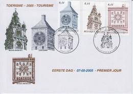 Toerisme - Tourisme 07-05-2005 2 Verschillende Afstempels - FDC