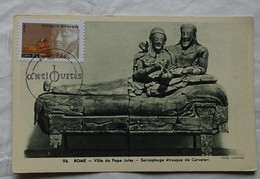 Carte Maximum Card   France Sculptre Antiquités Sarcophage Etusque Rome    2007  Carte Musée - Sculpture