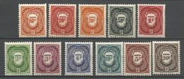 CAMEROUN TAXE N° 25 à 34  NEUF** SANS CHARNIERE  / MNH - Cameroun (1915-1959)