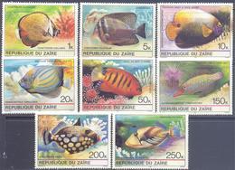 1980. Congo - Kinshasa/Rep. Du Zaire, Tropical Fishes, 8v, Mint/** - 1971-79: Neufs