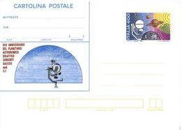 59888) ITALIA -INTERO POSTALE DA 400 LIRE 25º Anniversario Del Planetario Astronomico Sargenti Galileo Mod.S1 - Cartolin - Ganzsachen