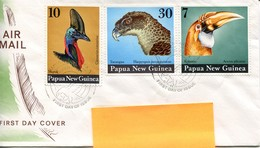 Papua New Guinea Mi# 272-4 FDC - Fauna Birds - Papua-Neuguinea