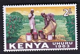 Kenya 1963 / Local Motives, Coffee Industry / MNH / Michel 11 - Sonstige