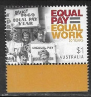 AUSTRALIA, 2019, MNH,  WOMEN'S EQUALITY, EQUAL PAY FOR WOMEN,1v - Briefmarken