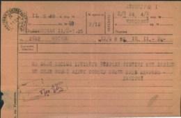 1944, Telegramm MOSKOW-LENINGRADE - Russie & URSS