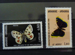 TIMBRES NEUFS PAPILLONS ANDORRE 258-259 TIMBRE Papillon - Papillons