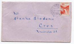 1960 YUGOSLAVIA, BOSNIA, TPO 106 JAJCE-LASTVA, SENT TO CRES - 1945-1992 Sozialistische Föderative Republik Jugoslawien