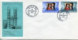 Britisch Virgin Islands Mi# 237-8 FDC - QEII - British Virgin Islands