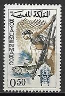 MAROC    -  1963  . Y&T N° 460  *.  Pêche  /  Poisson - Marokko (1956-...)