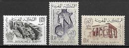 MAROC   -   1963  . Y&T N° 461 à 463 *.   Série Complète.  Monuments De Nubie - Marokko (1956-...)