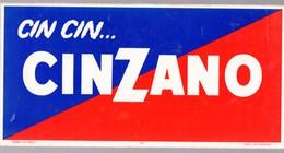 Carton Publicitaire Plastifié CINZANO Avec Timbre Fiscal Au Verso 1969.(Belgique)  (M0118) - Publicités