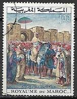 MAROC  -   1964  . Y&T N° 471 Oblitéré.   Tableau De DELACROIX - Marokko (1956-...)