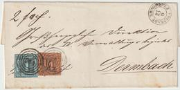 T&T: Briefhülle Mit MiF Nr. 1 Und 4, 1859. - Thurn And Taxis