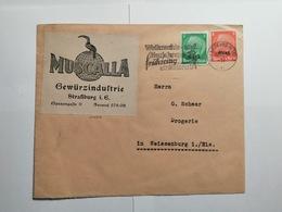 Deutsches Reich  Briefumschlag 1941 Elsass - Allemagne